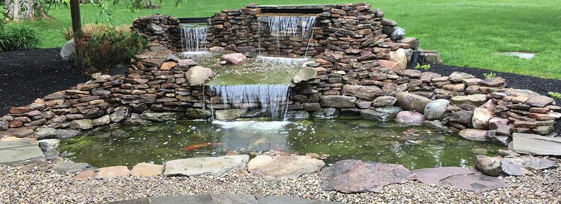 k and a waterfall pond fish slider